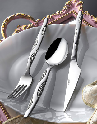 Diğer - Zümrüt Saten 12li Yemek Bıçağı